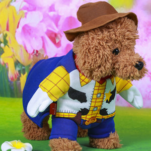 Cute Toy Story Woody Cowboy Costume With Brown Hat For Dog - Woof Apparel