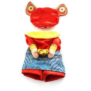 Caishen Chinese God of Wealth Costume with Hat for Dog - Woof Apparel