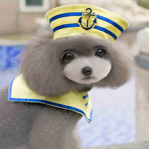 Cute Little Sailor Hat & Scarf Costume for Dog - Woof Apparel
