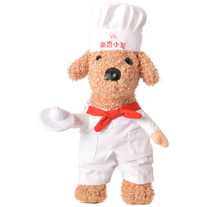 Funny Star Pastry Chef with Hat Standing Costume for Dog - Woof Apparel
