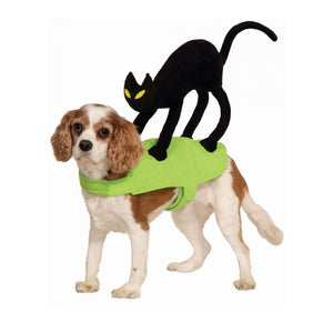 Black Cat on My Back Funny Halloween Costume for Dog - Woof Apparel