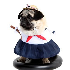 Sailor Costume With Red Bowknot For Your Cats And Dogs - Woof Apparel
