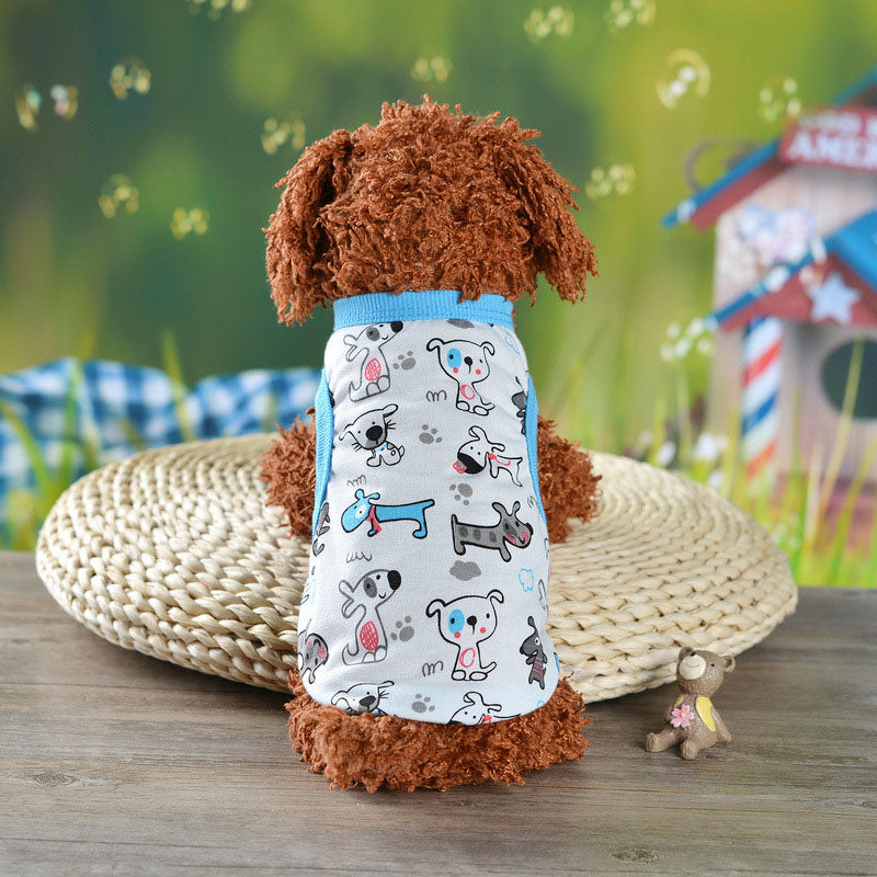Charming Puppy Art Design Summer Small Dog Tank Top - Woof Apparel