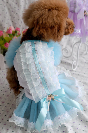 Awesome Ruffled Tulle Skirt Spring Small Dog Dress - Woof Apparel