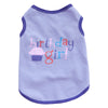 Cute Birthday Girl Design Purple Summer Small Dog Tank Top - Woof Apparel