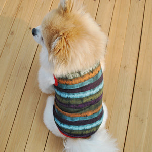 Faded Stripe Pattern Cotton Spring Small Dog Shirt - Woof Apparel