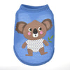 Curious Koala Bear Leaves Blue Summer Puppy Tank Top - Woof Apparel