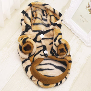 Cute Tiger Onesie Hoodie Costume for Dog - Woof Apparel