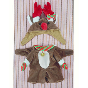 Cute Reindeer Christmas Jumpsuit Costume Cosplay For Dogs - Woof Apparel