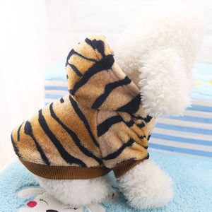 Cute Tiger Onesie Hoodie Costume for Dog