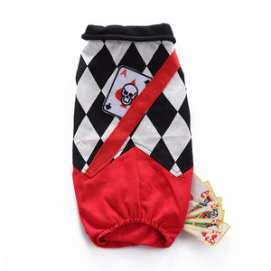 Funny Magician with Card Deck Trick Onesie Costume for Dog - Woof Apparel