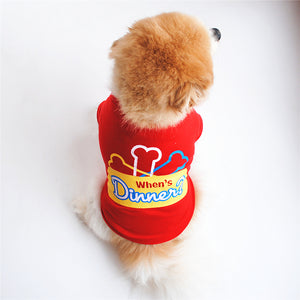 When's Dinner Dogs Platter With Bones Small Dog Shirt - Woof Apparel