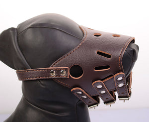 Anti-Bite Adjustable Soft Leather Dog Muzzle Mouth Cover - Woof Apparel