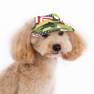 American Printed Camouflage Dog Sun Visor With Velcro Straps - Woof Apparel