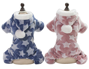Cute Soft Fleece Pajama Winter Jumpsuit For Dogs - Woof Apparel