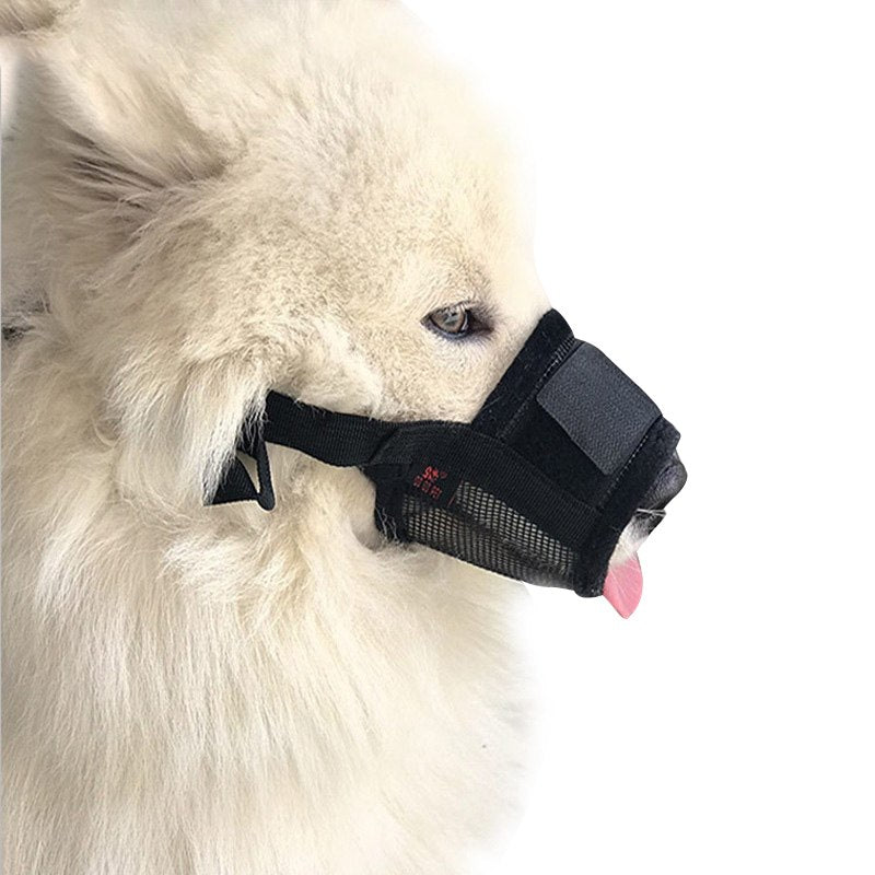 Anti-Bite Adjustable Nylon Mesh Dog Muzzle Mouth Cover - Woof Apparel