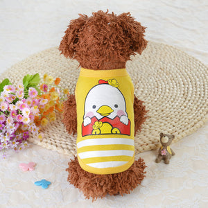 Chick Eggshell Design Yellow Summer Puppy Tank Top - Woof Apparel