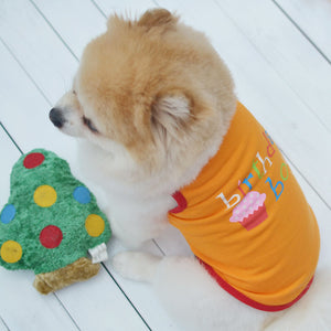 Adorable Birthday Boy Design Orange Small Dog Tank Top - Woof Apparel