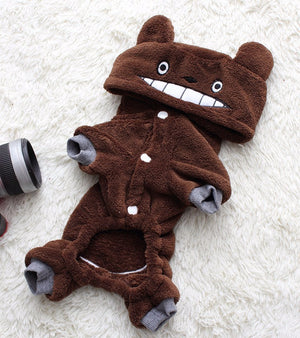 Cute Totoro Anime Hoodie Cosplay Costume for Dog - Woof Apparel