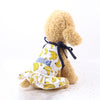 Charming Banana Design Spaghetti Strap Small Dog Dress - Woof Apparel