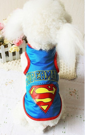 Cool Superman Breathable Spring Outfit Small Dog Shirt - Woof Apparel