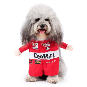 Adorable F1 Racer Suit Outfit for Dogs - Woof Apparel