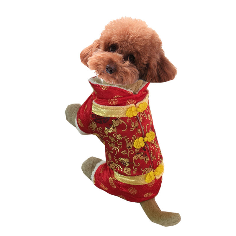 Chinese Charismatic Tang suit Costume For Dogs - Woof Apparel