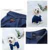 Cute Collared Denim Jeans Overall Warm Coat Puppy Jumpsuit - Woof Apparel