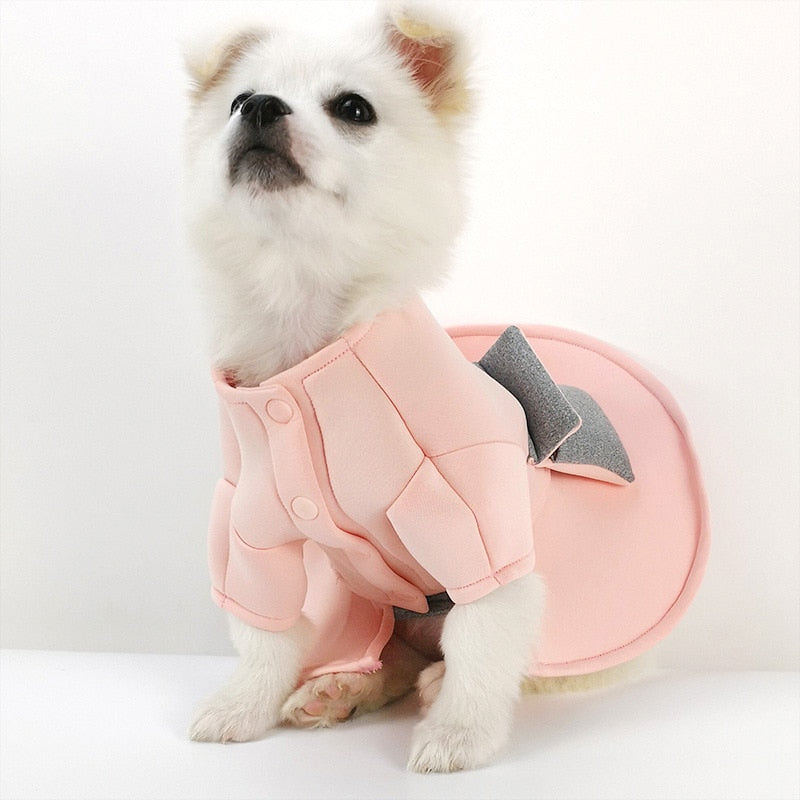 Beautiful Luxury Wedding Outfit Winter Small Dog Dress