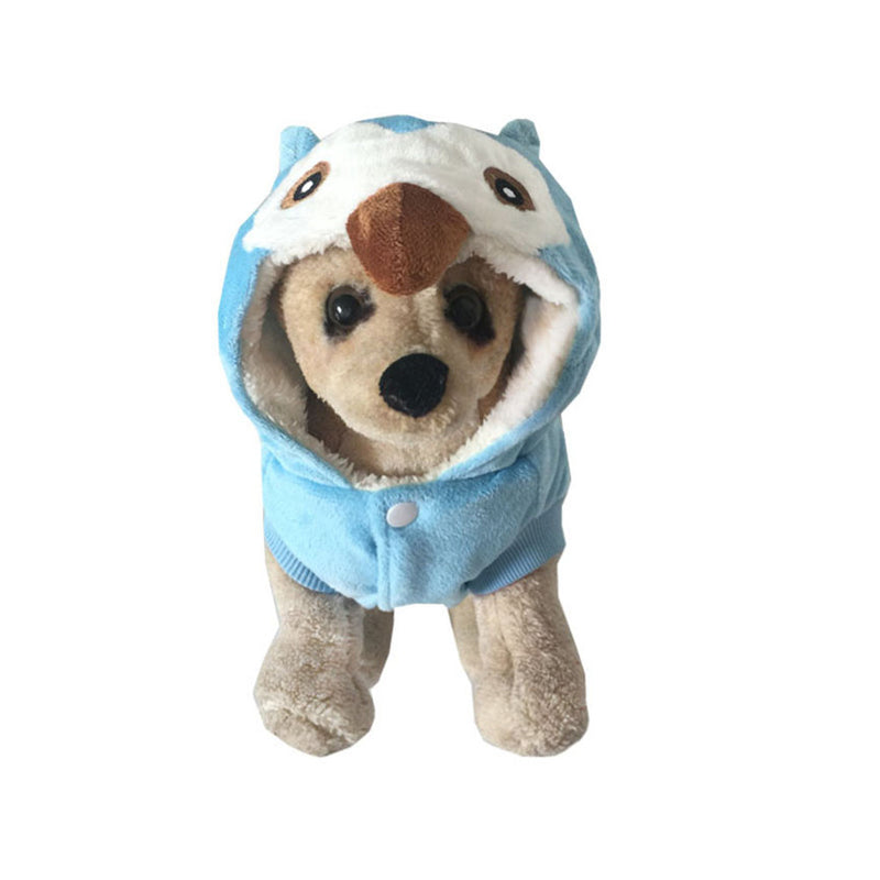 Cute Owl Comfortable Velvet Hoodie Costume for Dog - Woof Apparel