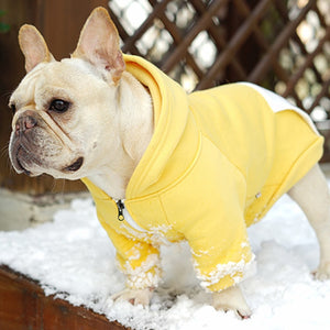 Plain Color Hoodie Coat With Pocket Dog Zip Up Jacket - Woof Apparel