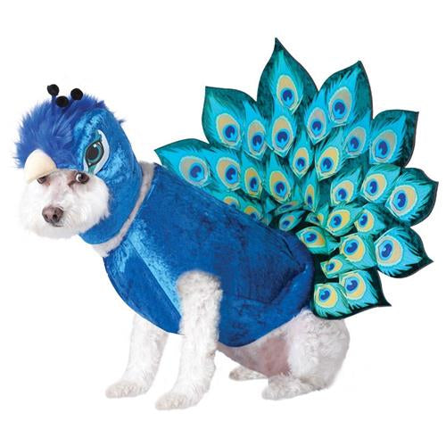 Cute Peacock Design Cosplay Costume With Hat For Dogs - Woof Apparel