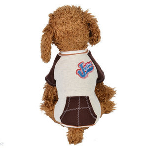Baseball Sporty Outfit With Pocket Winter Small Dog Jacket - Woof Apparel