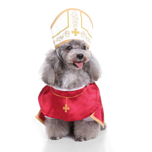 Holy Pope Priest with Hat Cute Costume for Dog - Woof Apparel