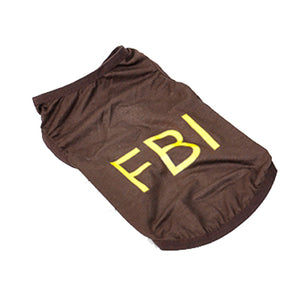 FBI Letter Print Cotton Summer Wear Puppy Dog Shirt - Woof Apparel