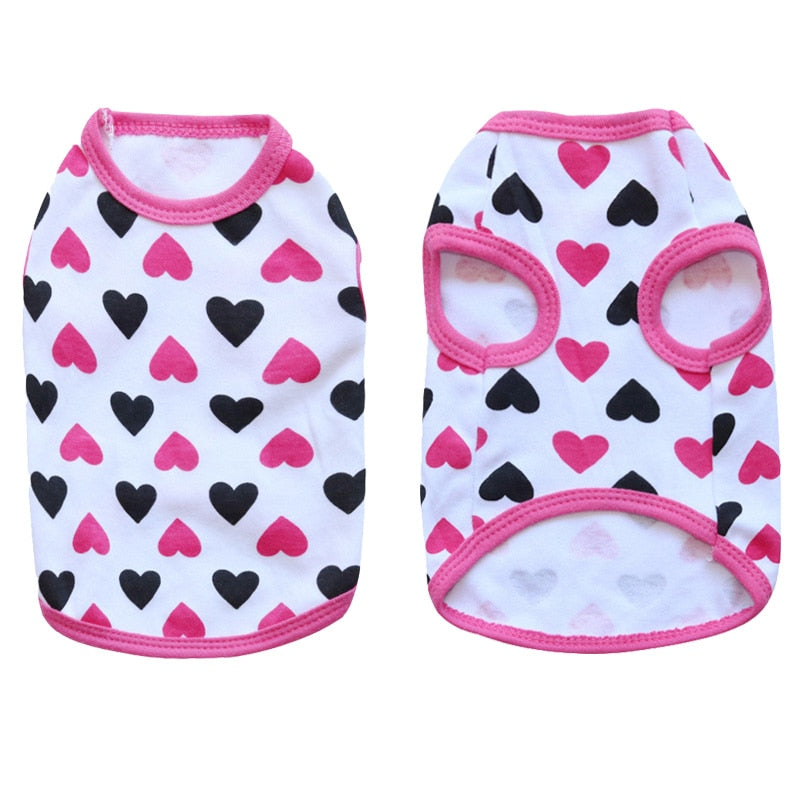 Beautiful Heart Design Pattern Summer Puppy Tank Top - Woof Apparel