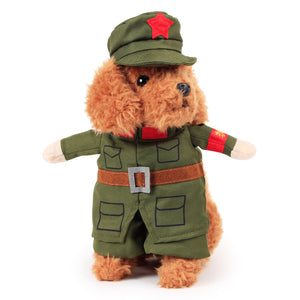 Cute Military Uniform With Hat Cosplay Costume For Dog - Woof Apparel