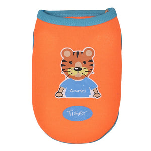 Strong Tiger Print Orange Spring Small Dog Tank Top - Woof Apparel