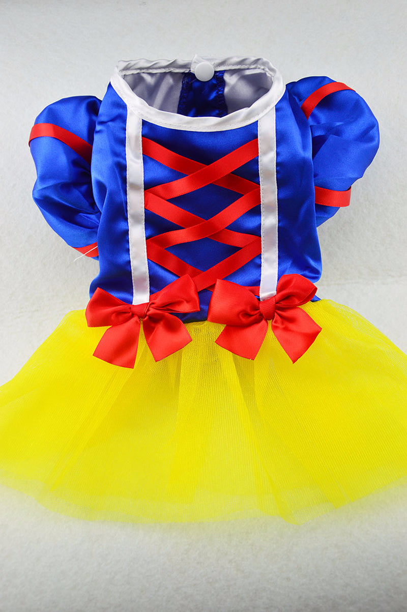 Snow White Princess Dress Costume For Dogs - Woof Apparel