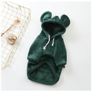 Soft Fleece Mickey Inspired Jacket Small Dog Hoodie - Woof Apparel