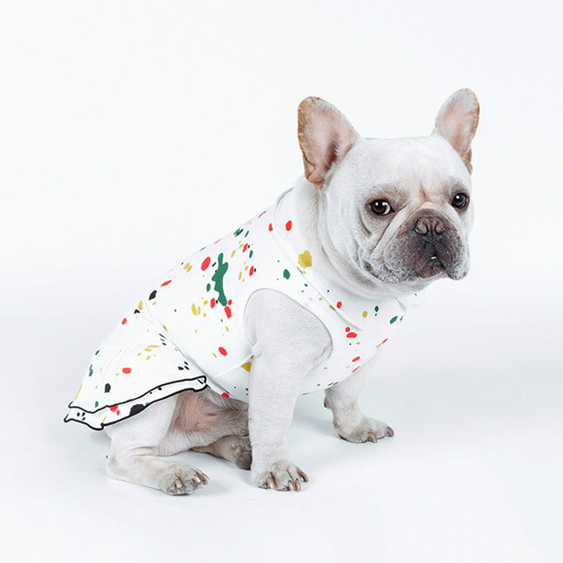 Creative Sassy Color Sprinkled Design Spring Dog Dress - Woof Apparel