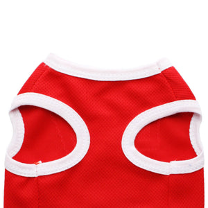 Cute Number 7 Red Outdoor Summer Outfit Small Dog Shirt - Woof Apparel