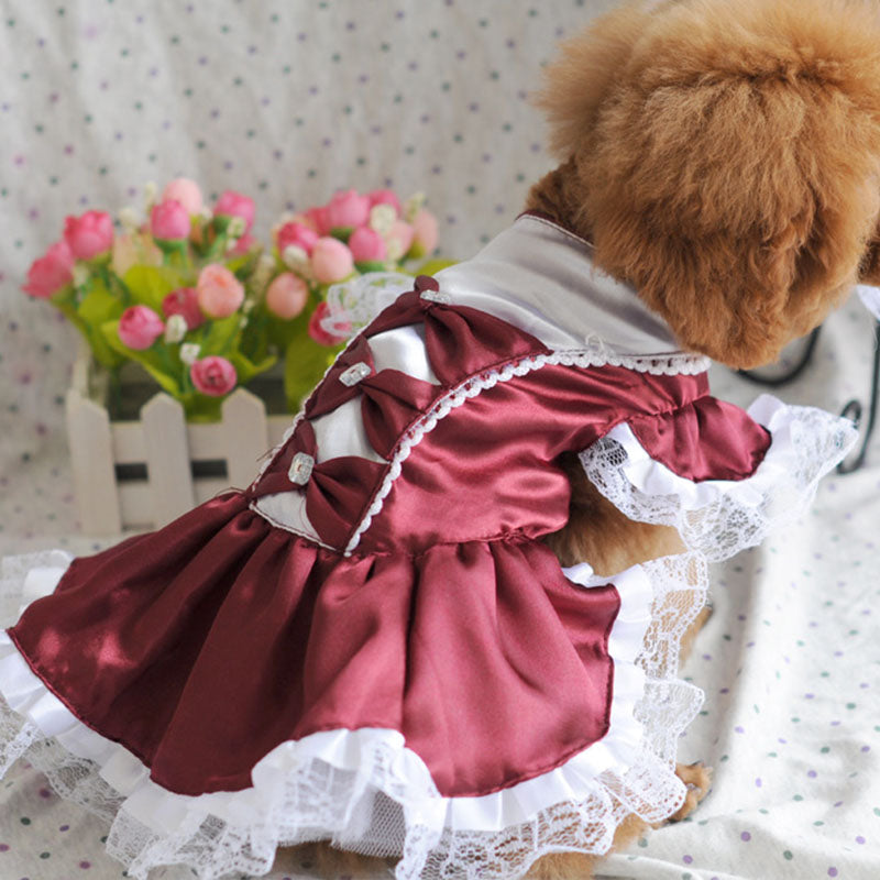Princess Like Wedding Tulle Skirt Outfit Puppy Dress - Woof Apparel