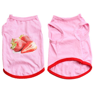 Sweet Strawberry Baby Spring Pink Small Dog Tank Top - Woof Apparel