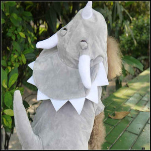 Cute Little Triceratops Dinosaur Costume for Dog - Woof Apparel