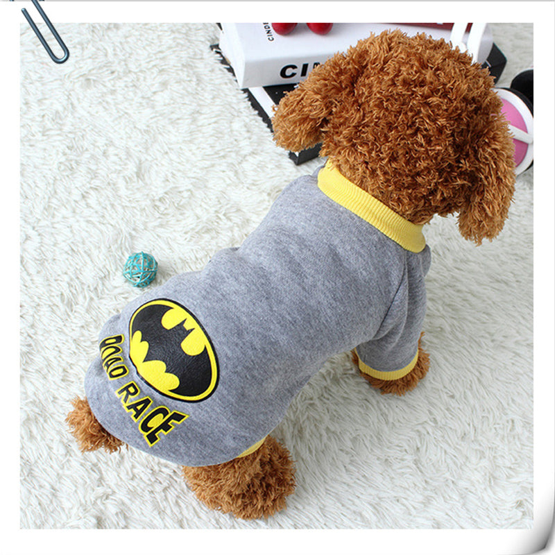 Batman Superhero Inspired Vest Costume Winter Dog Sweatshirt - Woof Apparel