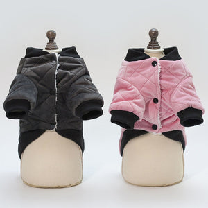 Fluffy Warm Padded Winter Clothing Small Dog Jacket - Woof Apparel