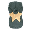 Cuddly Star Knitted Design Winter Outfit Dog Sweatshirt - Woof Apparel