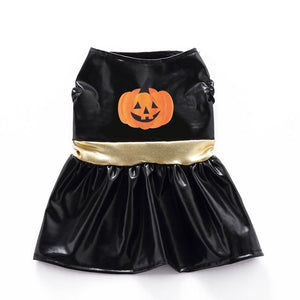 Funny Black Halloween Costume Dress Pumpkin For Dogs - Woof Apparel