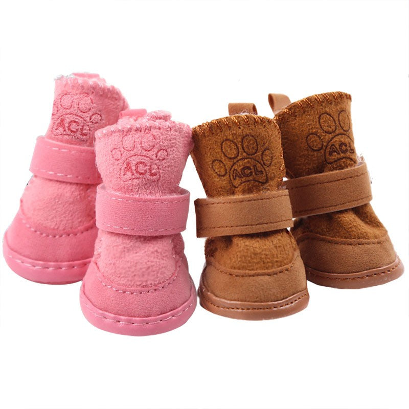 Soft And Warm Pet Snow Boots Winter Small Dog Shoes - Woof Apparel